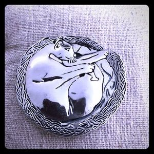 Jewelry - Sterling 925 Panther Pin